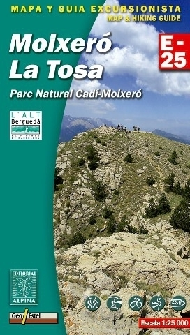 MOIXERO - LA TOSA - CADI MOIXERO NP mapa turystyczna 1:25 000 ALPINA EDITORIAL