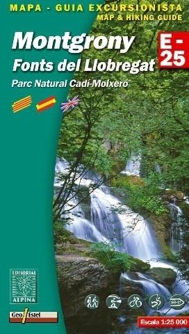 MONTGRONY - FONTS DEL LLOBREGAT - CADI MOIXERO NP mapa turystyczna 1:25 000 ALPINA EDITORIAL