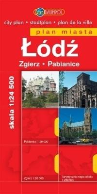 ŁÓDŹ ZGIERZ PABIANICE plan miasta 1:24 500 EUROPILOT