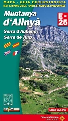 MUNTANYA D'ALINYA - SERRA D'AUBENC - SERRA DE TURP mapa turystyczna 1:25 000 ALPINA EDITORIAL
