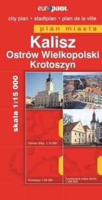 KALISZ KROTOSZYN plan miasta 1:15 000 EUROPILOT