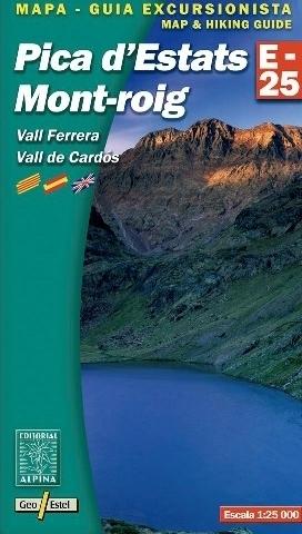 PICA D'ESTATS - MONT ROIG - VALL FERRERA - VALL DE CARDOS mapa turystyczna 1:25 000 ALPINA EDITORIAL