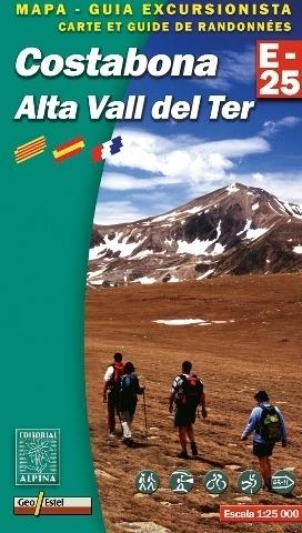 COSTABONA - ALTA VALL DEL TER mapa turystyczna 1:25 000 ALPINA EDITORIAL