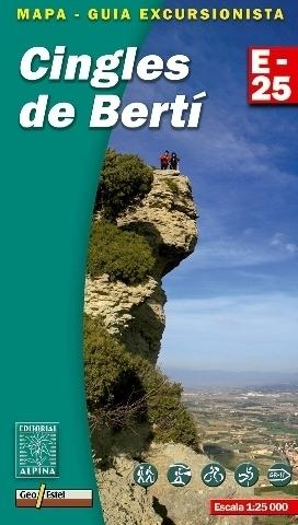 CINGLES DE BERTI mapa turystyczna 1:25 000 ALPINA EDITORIAL