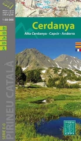 CERDANYA - ALTA CERDANYA - CAPCIR - ANDORRA mapa turystyczna 1:50 000 ALPINA EDITORIAL