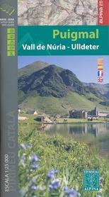 PUIGMAL VALL DE NURIA ULLDETER mapa 1:25 000 ALPINA