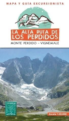 ALTA RUTA DE LOS PERDIDOS MONTE PERDIDO - VIGNEMALE mapa turystyczna 1:30 000 ALPINA EDITORIAL