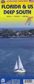 FLORYDA I GŁĘBOKIE POŁUDNIE / FLORIDA & US DEEP SOUTH mapa wodoodporna 1:720 000/1 000 000 ITMB