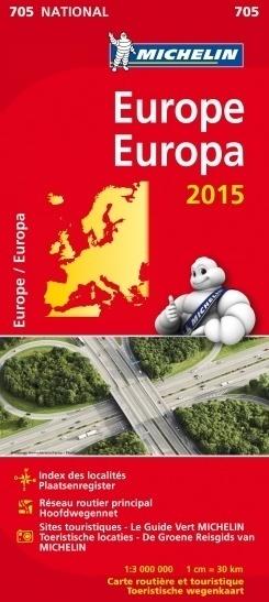 EUROPA mapa samochodowa 1:3 000 000 MICHELIN 2015