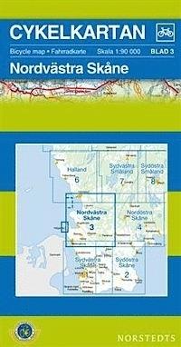SKANIA PÓŁNOCNY ZACHÓD część 3 Skane North-West wodoodporna mapa rowerowa 1:90 000 NORSTEDTS