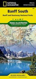 BANFF POŁUDNIE Banff South Banff & Kootenay NP, wodoodporna mapa turystyczna 1:100 000 NATIONAL GEOGRAPHIC