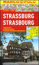 STRASBURG  laminowany plan miasta 1:15 000 MARCO POLO