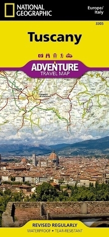 TOSKANIA Tuscany Adventure Map 3305 mapa wodoodporna 1:220 000 NATIONAL GEOGRAPHIC