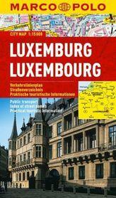 LUKSEMBURG laminowany plan miasta 1:15 000 MARCO POLO