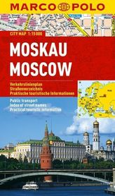 MOSKWA laminowany plan miasta 1:15 000 MARCO POLO
