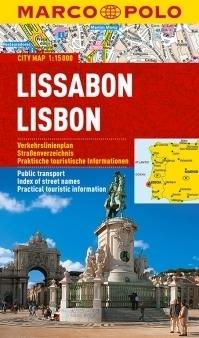 LIZBONA laminowany plan miasta 1:15 000 MARCO POLO