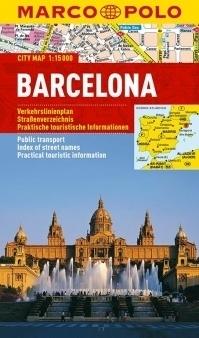 BARCELONA laminowany plan miasta 1:15 000 MARCO POLO