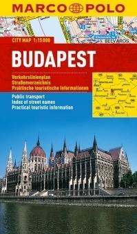 BUDAPESZT laminowany plan miasta 1:15 000 MARCO POLO