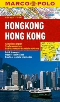 HONG KONG laminowany plan miasta 1:15 000 MARCO POLO