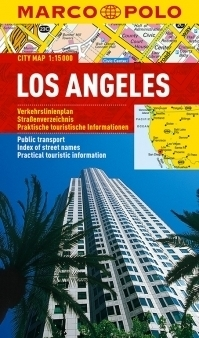 LOS ANGELES laminowany plan miasta 1:15 000 MARCO POLO