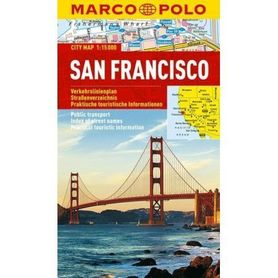 SAN FRANCISCO laminowany plan miasta 1:15 000 MARCO POLO