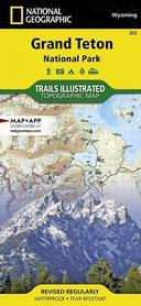 GRAND TETON NP 202 mapa wodoodporna 1:31 680 NATIONAL GEOGRAPHIC