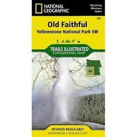 YELLOWSTONE SW - OLD FAITHFUL 302 mapa wodoodporna 1:70 000 NATIONAL GEOGRAPHIC