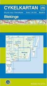 BLEKINGE 5 mapa rowerowa wodoodporna 1:90 000 NORSTEDTS