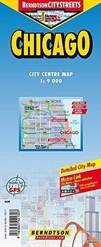 CHICAGO mapa laminowana 1:9 000 BERNDTSONMAP