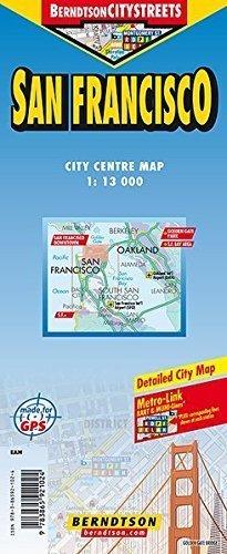 SAN FRANCISCO mapa laminowana 1:13 000 BERNDTSONMAP