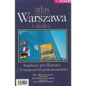 WARSZAWA I OKOLICE atlas samochodowy DEMART