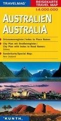 AUSTRALIA mapa samochodowa 1:4 000 000 TM KUNTH