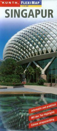 SINGAPUR laminowany plan miasta 1:12 500 KUNTH