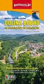 DOLINA BOBRU od Jeleniej Góry do Bolesławca mapa turystyczna 1:50 000 STUDIO PLAN 2019