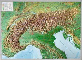 ALPY mapa plastyczna w ramie 1:1 200 000 GEORELIEF