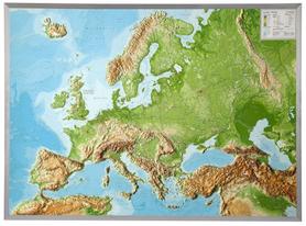 EUROPA mapa plastyczna w ramie 1:8 000 000 GEORELIEF