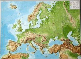 EUROPA mapa plastyczna 1:8 000 000 GEORELIEF