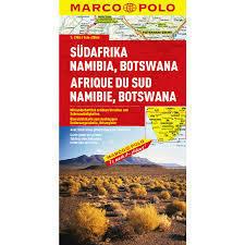 RPA NAMIBIA BOTSWANA mapa samochodowa 1:2 000 000 MARCO POLO