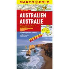 AUSTRALIA mapa samochodowa 1:4 000 000 MARCO POLO