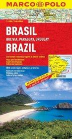 BRAZYLIA BOLIWIA PARAGWAJ URUGWAJ mapa samochodowa 1:4 000 000 MARCO POLO