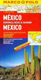 MEKSYK GWATEMALA BELIZE SALWADOR mapa samochodowa 1:2 500 000 MARCO POLO