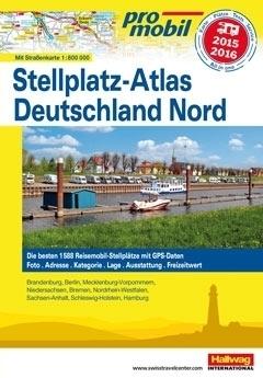 NIEMCY PÓŁNOCNE atlas dla kempingowców HALLWAG 2015/2016