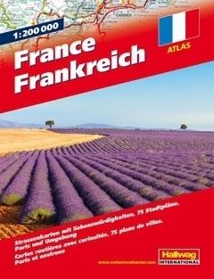 FRANCJA atlas samochodowy 1:200 000 HALLWAG