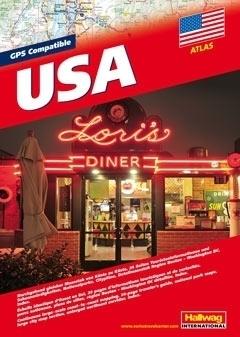 USA atlas samochodowy HALLWAG