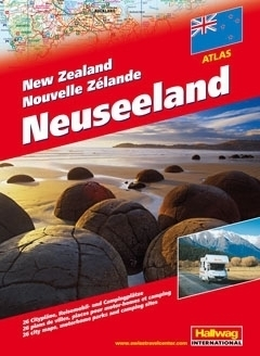 NOWA ZELANDIA atlas samochodowy HALLWAG