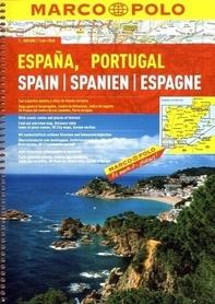 HISZPANIA PORTUGALIA atlas samochodowy 1:300 000 MARCO POLO