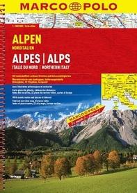 ALPY, PÓŁNOCNE WŁOCHY atlas samochodowy 1:300 000 MARCO POLO