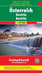 AUSTRIA atlas 1:150 000 FREYTAG & BERNDT