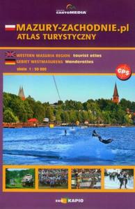 MAZURY ZACHODNIE atlas turystyczny 1:50 000 CARTOMEDIA
