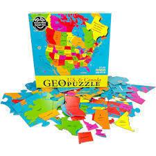 KANADA I USA puzzle GEOTOYS